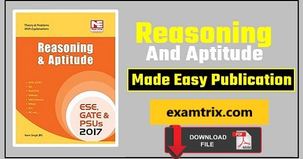 Made easy aptitude book for gate pdf