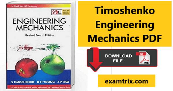 Timoshenko engineering mechanics pdf free download
