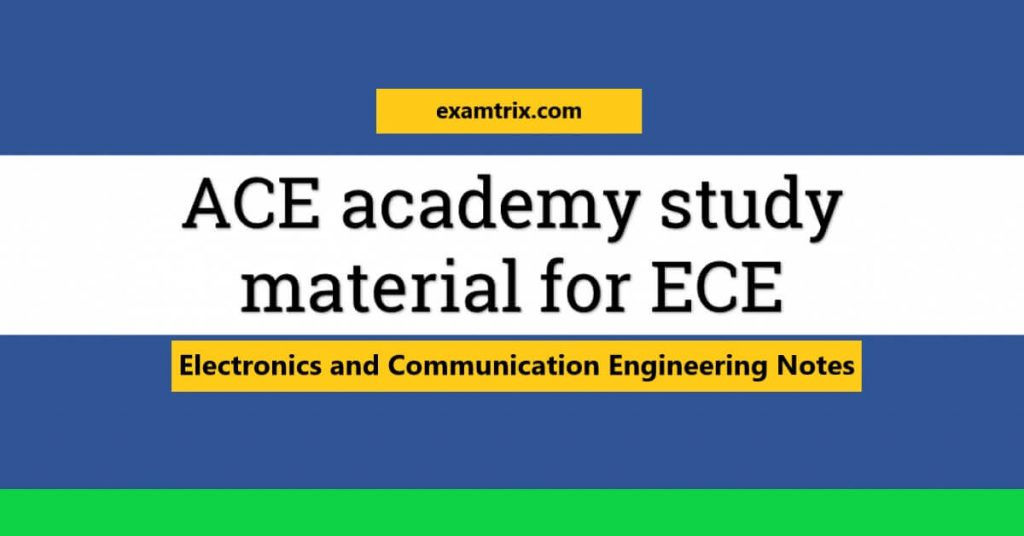 ACE academy notes for gate ece pdf free download